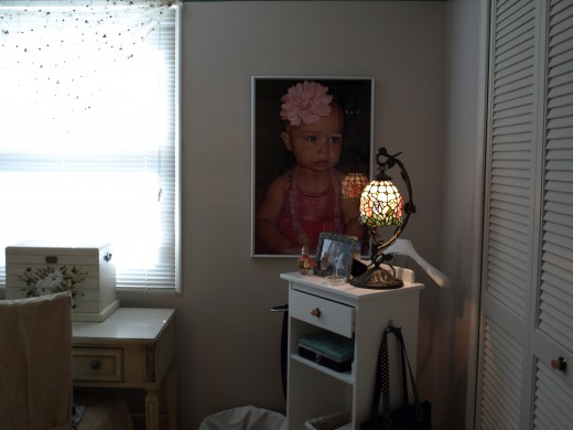 I'm obsessed - a poster of Kaylee in our master bedroom.