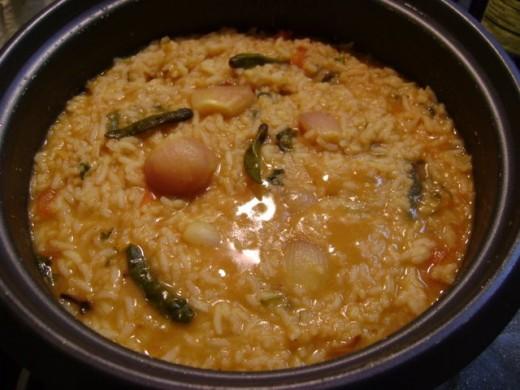 Sambar Rice Recipe - Ingredients and preparation method