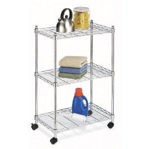 Whitmor 6056-344-N Supreme Cart, Chrome