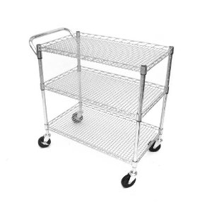 Seville Classics SHE18304 18-Inch by 34-Inch by 33-1/2-Inch Industrial All-Purpose Utility Cart,