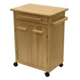 Winsome Wood Single Drawer Storage Cart, Natural