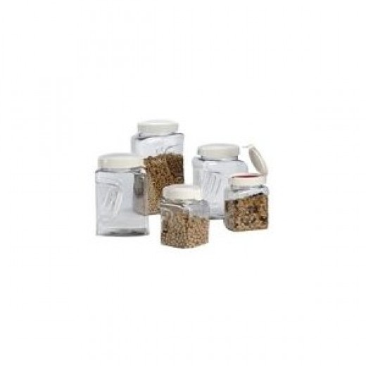 Snapware 60002BXS Square Grip 10-Piece Airtight Dry-Food Canister Set