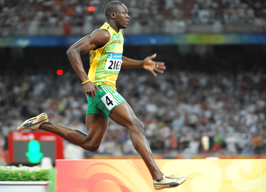 Usain Bolt World 100m and 200m record holder