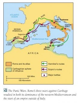 This Map shows the troop movements in the second punic war.