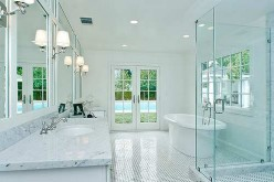 Bathroom with Recessed Lighting