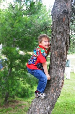 We would climb trees !  Photographer: Bill Longshaw