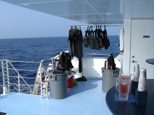 Diving gear waiting to be used