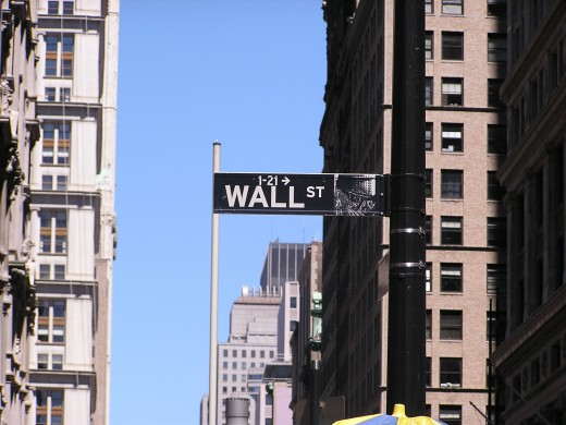 Wall Street, New York City. Copyright Tia D. Peterson. May not be re-used without permission.