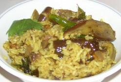 Brinjal Rice Recipe - Karnataka Special Vangi Bhath Preperation