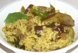 Vangi Bhath or Brinjal Rice Recipe - Ingredients and Method of preparation