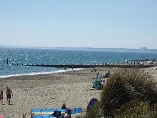 Beach at Hengistbury, Bournemouth