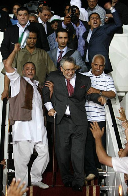 Abdel Basset Ali al-Megrahi, convicted for the 1988 airliner bombing over Scotland, received a hero's welcome when he returned to Libya in August.