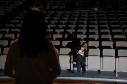 Me conducting rehearsals in Taiwan captured by Erwin Go