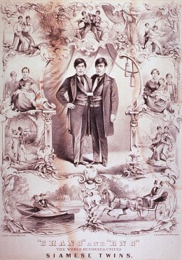 Chang and Eng Lithograph (1860)