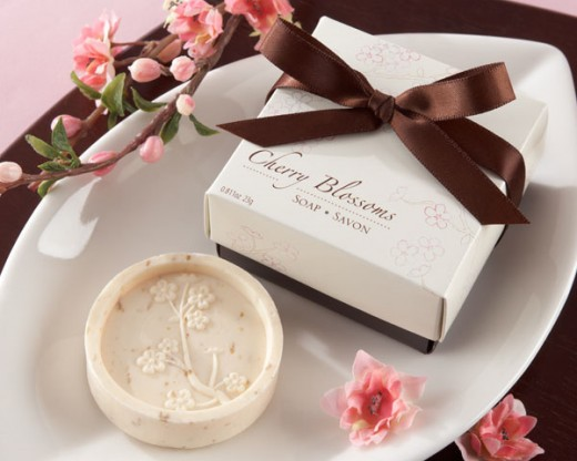 Cherry Blossom Soaps from Wedding Favors Unlimited