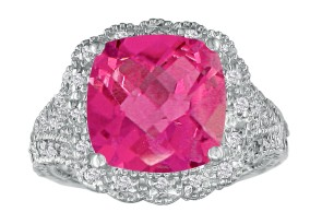 Chic Pink Topaz Cocktail Ring