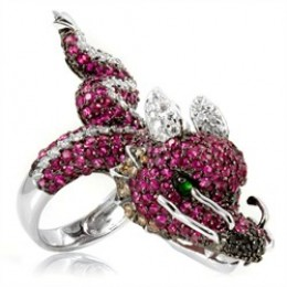 Cocktail Rings Come In All Shapes & Sizes.  Even As Dragons!