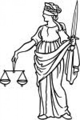 The ambiguity of Justice: Gives to each of us what one deserves yet Justice is blind and punishes using a sword.