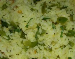 Capsicum Rice Recipe - Ingredients and Method of Preparation
