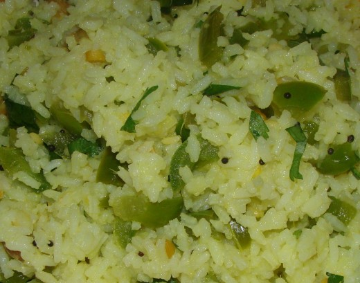 Capsicum Rice Recipe - Ingredients and Method of Preparation