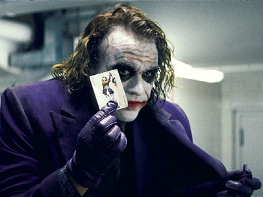 Heath Ledgers the Joker in The Dark Knight