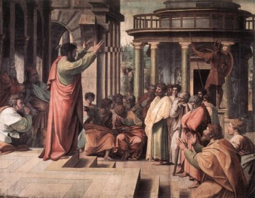 A depiction of Paul at Athens.
