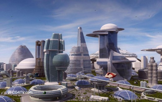 A Futuristic City, Could it be Chicago or Los Angeles?