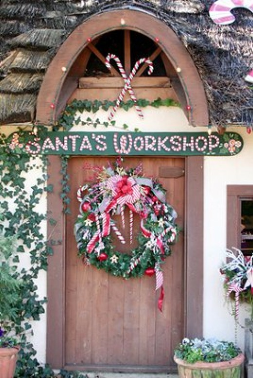 Santa's Christmas Door Display