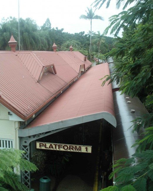 Shady platform at the beautiful Kuranda Station