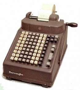 Machine for manual calculation by manually punching the numbers