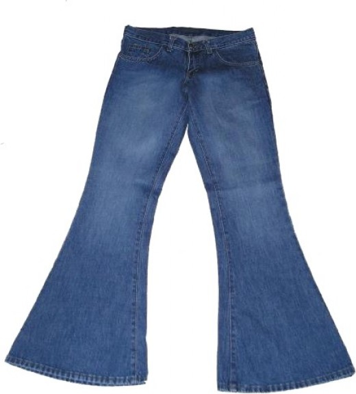 The 'bell-bottomed' flares of the late 60's