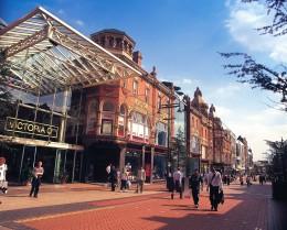 Shops along Victoria Quarter