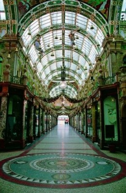 Glass ceilings at the County Arcade, Victoria Quarter
