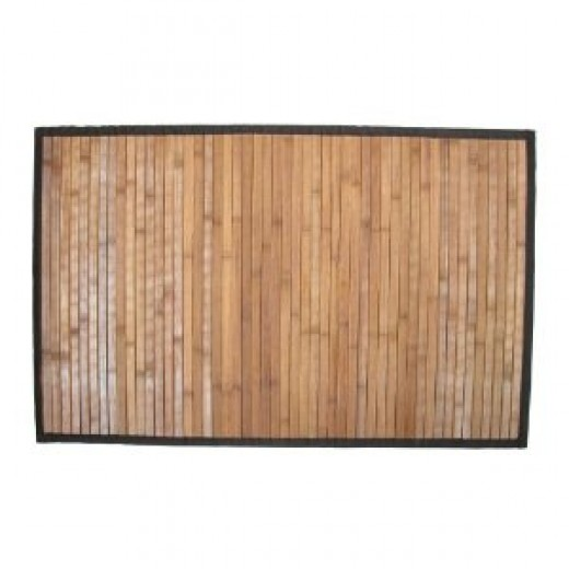 Natural Bamboo Step Mat, Dark Wood