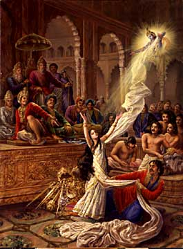Draupadi Cheer haran (The most notorious Mahabharatha incident of disrobing Draupadi in public)