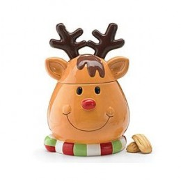Reindeer Christmas/Holiday Cookie Jar/Storage For Holiday/Christmas Kitchen Decor