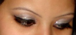 White-Silver eye shadow