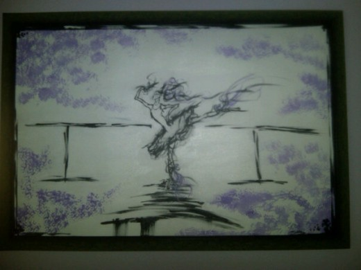 Old school painting I did for my sister when she was a ballerina