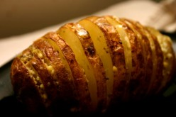 Roasted Potato Armadillos Recipe with Feta and Pesto