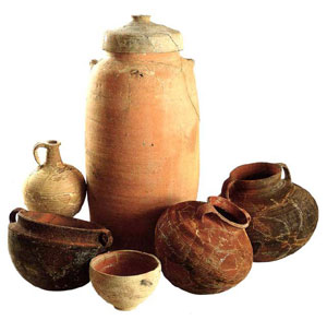 Pottery excavated in Israel