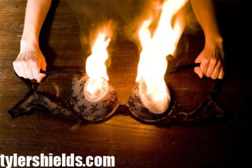 Burning Bra   Courtesy of TylerShields.com!