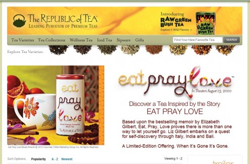 Eat Pray Love Tea by The Republic of Tea