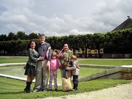 My family and me visiting the  Chateau de Bouges