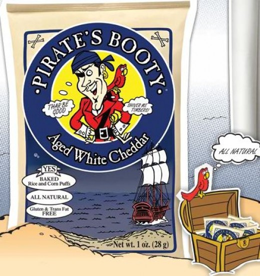 Pirate's Booty Aged White Cheddar all-natural baked snack.