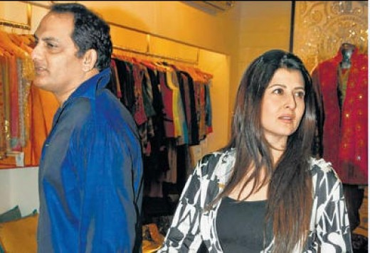 Azharuddin and Sangita Bijlani