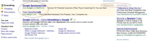 Google Sponsored Ads and Clicks