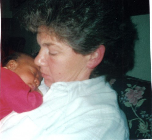 Anne with Shari's baby