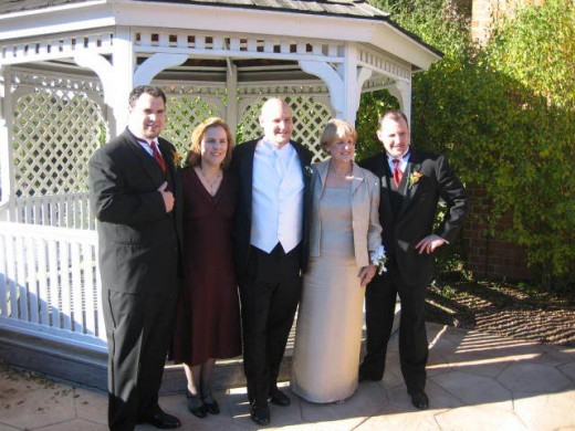 A photo from my Brothers wedding. My mom is in the light colored dress. Hey Mom! RIP Dad - We all miss you dearly and love you!