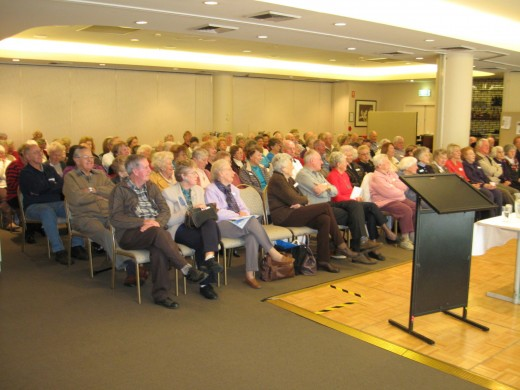Some of the 119 - strong audience at the Revesby RSL on 26 July 2010