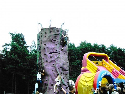 The climbing tower proved very popular. Photograph by D.A.L.